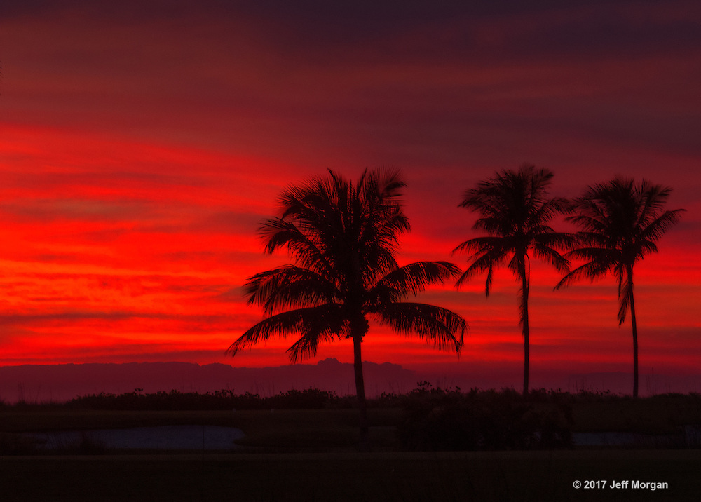 A dramatic sky following sunset on a magical evening in Captiva