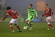 Forest Green Rovers Chris Clements(22) during the Gloucestershire Senior Cup match between Forest Green Rovers and U23 Bristol City at the New Lawn, Forest Green, United Kingdom on 9 April 2018. Picture by Shane Healey.