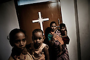 Christian refugees at Peyton sahi relief comittee in Orissa's capital Bhubaneswar. Nov. 03, 2008.