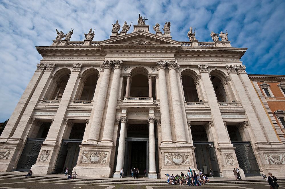 The facade of St. John Latarne Basilica in Rome. (Sam Lucero photo)