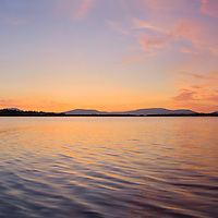 Lough Currane Sunset, Waterville Co. Kerry, Ireland / wvx010