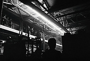 A large warehouse filled with people for an event, 'Scumoween', Whitgift Street, Lambeth, London, UK, 31 October, 2015