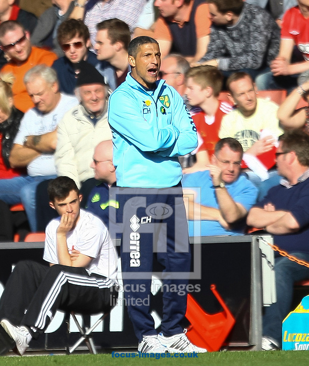 Norwich City manager Chris Hughton during the Barclays Premier League match at the St Mary's Stadium, Southampton<br /> Picture by Daniel Chesterton/Focus Images Ltd +44 7966 018899<br /> 15/03/2014