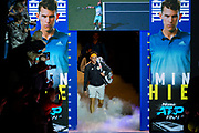 Dominic Thiem of Austria walks onto court  during the Nitto ATP Finals at the O2 Arena, London, United Kingdom on 12 November 2019.