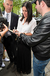 © Licensed to London News Pictures. 19/05/2016. COURTENEY COX attends the Ivor Novello Awards. London, UK. Photo credit: Ray Tang/LNP