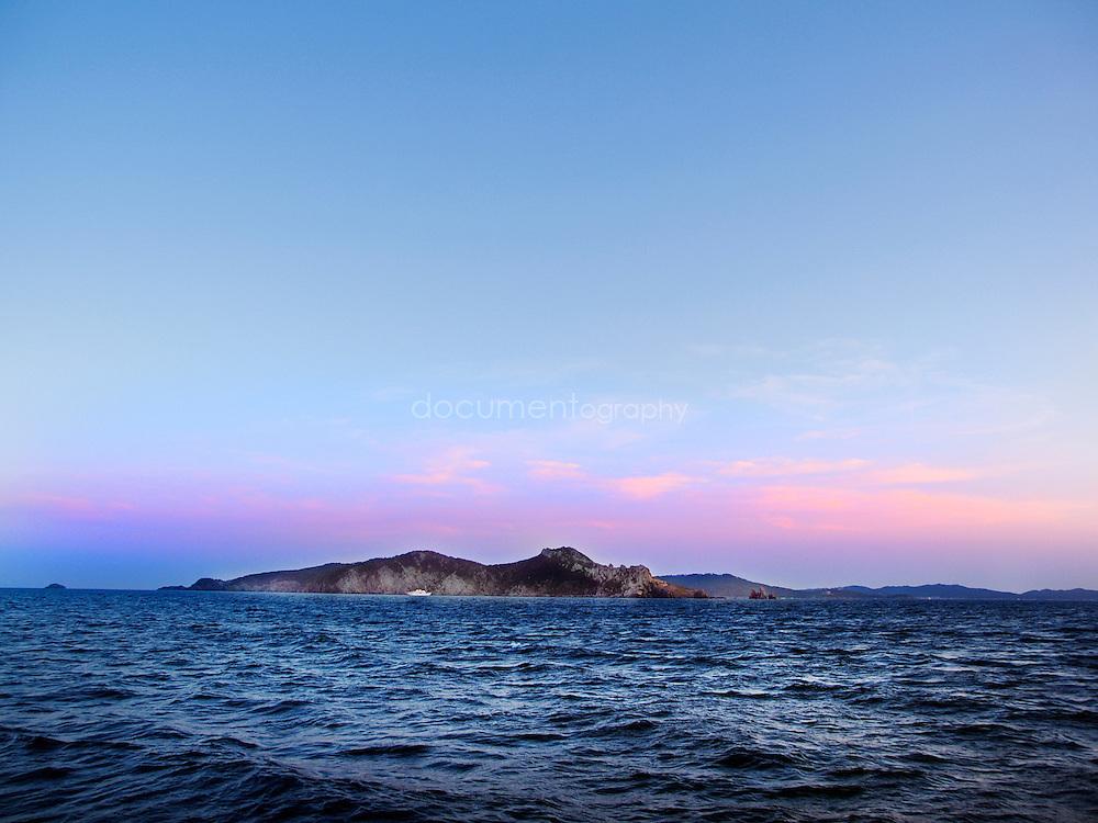 A l'approche de l'ile de Porquerolles