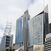 Modern buildings on Sydney's city skyline