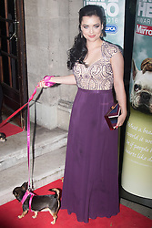 Grosvenor House Hotel, London, September 7th 2016. Celebrities attend the RSPCA's annual awards ceremony recognising the country's bravest animals and the individuals committed to improving their lives. PICTURED: Shona McGarty from Eastenders