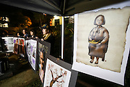 "Supporters hold portraits of former comfort women during a candlelight vigil in remebrance and support of ""Comfort Women"", Japanese military sexual slavery victims during World War II, at Glendale Peace Monument  at Glendale Peace Monument on January 5, 2016 in Glendale, California. AFP PHOTO / Ringo Chiu"