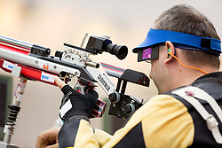 Francek Gorazd Tirsek of Slovenia competes in the Men's R4-10m Air Rifle Standing shooting Qualifications during Day 5 of the Summer Paralympic Games London 2012 on September 2, 2012, in Royal Artillery Barracks, London, Great Britain. (Photo by Vid Ponikvar / Sportida.com)