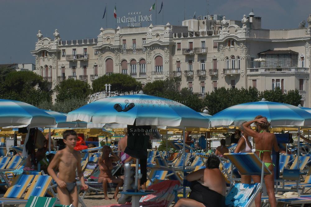 Rimini, seaside resort. Italy.