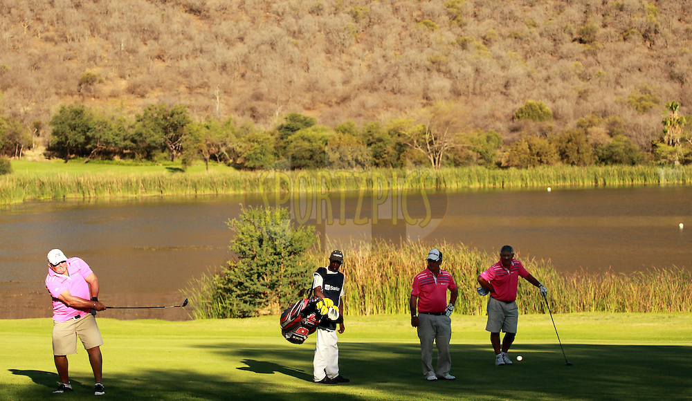 Players during the second round of the Sanlam Cancer Challenge Finals held at the Gary Player Golf Club in Sun City near Johannesburg on the 22nd October 2013. Photo by Jacques Rossouw - SPORTZPICS