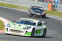 #41 Tania Mann/Matt Draper - Optimum Motorsport, Ginetta G55 GT4 during British GT Championship race two at Oulton Park, Little Budworth, Cheshire, United Kingdom. April 21 2014. World Copyright Peter Taylor/PSP. Copy of publication required for printed pictures.  Every used picture is fee-liable. http://archive.petertaylor-photographic.co.uk