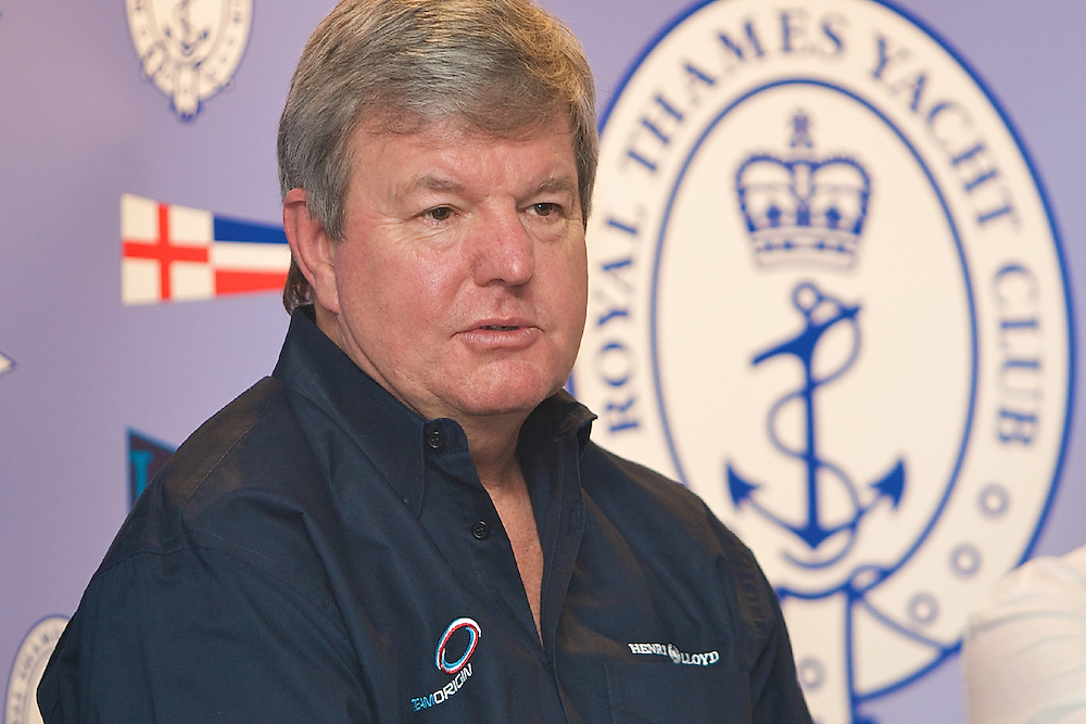 ENGLAND, London, Royal Thames Yacht Club, January 16th, An update on the 33rd America's Cup with Team Origin and Alinghi. Sir Keith Mills, Team Principal, Team Origin.