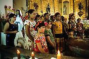 Juchitàn, Vela San Isidro Labrador. Holy Mass in St Vicente Ferrer church.