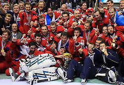 Russian Team group photo at  ice-hockey game Canada vs Russia at finals of IIHF WC 2008 in Quebec City,  on May 18, 2008, in Colisee Pepsi, Quebec City, Quebec, Canada. Win of Russia 5:4. (Photo by Vid Ponikvar / Sportal Images)