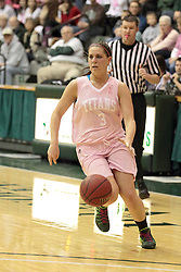 08 February 2014:  Colleen McMahon during an NCAA women's division 3 CCIW basketball game between the Elmhurst Bluejays and the Illinois Wesleyan Titans in Shirk Center, Bloomington IL