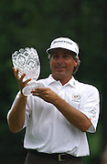 Jun 26, 2006; Gaylord MI; USA; Fred Couples smiles after receiving the winners trophy at the 2006 ING Par-3 Shootout at Treetops Resort in Gaylord Michigan.