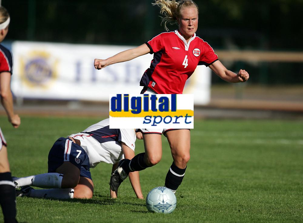 Fotball, 26. juli 2005, U21 damer, Åpent nordisk mesterskap, finale, Norge- USA 1-4,   Hilde Hansen, Norge