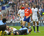 Twickenham, GREAT BRITAIN, NZL Referee Glen JACKSON, 'Officiates' during the QBE International Series, England vs Fiji, Autumn International at Twickenham Stadium, Surrey on   Saturday,  10/11/2012.  Mandatory Credit  [Peter Spurrier/Intersport-images]?