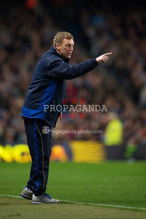 MANCHESTER, ENGLAND - Wednesday, March 24, 2010: Everton's manager David Moyes during the Premiership match against Manchester City at the City of Manchester Stadium. (Photo by David Rawcliffe/Propaganda)