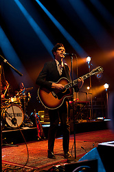 © Licensed to London News Pictures. 16/04/2012. London, UK. Noah and the Whale perform and headline at the Royal Albert Hall.  Noah and the Whale are an English indie-folk band form Twickenham, London, England, formed in 2006.  They have been touring to promote their third album, Last Night on Earth, released in 2011.  Noah and the Whale is fronted by singer/guitarist Charlie Fink.   Photo credit : Richard Isaac/LNP
