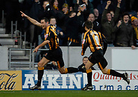 Photo: Jed Wee.<br />Hull City v Cardiff City. Coca Cola Championship. 16/12/2006.<br /><br />Hull's Damien Delaney (L) celebrates after opening the scoring.