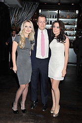 Left to right,  OLGA GERASIMOVA, co-founder of Pomp Magazine, TOM PARKER BOWLES and MARINA KIM co-founder of Pomp Magazine, at a party to celebrate the launch of Pomp magazine - a magazine representing London Luxury without the Ceremony focusing on the luxury, fashion and culture of the Capital, hosted by Tom Parker Bowles and the Directors of Pomp Magazine held at The Cuckoo Club, Swallow Street, London on 17th November 2011.