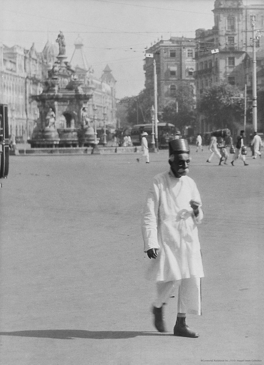 Flora Fountain, Hornby Road, Bombay, India, 1929