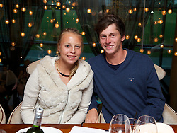 LIVERPOOL, ENGLAND - Friday, June 21, 2013: Anett Kontaveit and friend enjoy a night out at Chaophraya during Day Two of the Liverpool Hope University International Tennis Tournament at Calderstones Park. (Pic by David Rawcliffe/Propaganda)