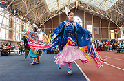 Photography ©Mara Lavitt<br /> October 7, 2018<br /> Coxe Cage, Derby Ave. Yale University<br /> <br /> The 7th Annual Powwow hosted by the Association of Native Americans at Yale. Head Woman Dancer Dinee Dorame '15.