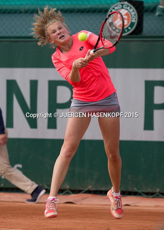 Katerina Siniakova (CZE)<br /> <br /> Tennis - French Open 2015 - Grand Slam ITF / ATP / WTA -  Roland Garros - Paris -  - France  - 25 May 2015.