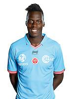 Edouard Mendy of Reims during the photocall of Reims for new season of Ligue 2 on September 29th 2016 in Reims<br /> Photo : Stade de Reims / Icon Sport