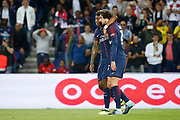 Adrien Rabiot (psg) scored a goal and celebrated it with Presnel Kimpembe (PSG) during the French championship L1 football match between Paris Saint-Germain (PSG) and Toulouse Football Club, on August 20, 2017, at Parc des Princes, in Paris, France - Photo Stephane Allaman / ProSportsImages / DPPI