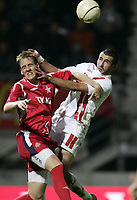 Fotball<br /> Frankrike<br /> Foto: Dppi/Digitalsport<br /> NORWAY ONLY<br /> <br /> FOOTBALL - UEFA CUP 2006/2007 - GROUP STAGE - GROUP E - AS NANCY v WISLA KRAKOW - 02/11/2006<br /> <br /> MONSEF ZERKA (NAN) / MICHAEL THWAITE (WIS)
