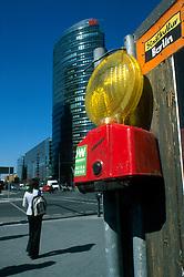 GERMANY BERLIN APR04 - Deutsche Bahn building, a modern glass and steel facade  office block on Potsdamer Platz, Berlin.<br /> <br /> <br /> <br /> jre/Photo by Jiri Rezac <br /> <br /> <br /> <br /> © Jiri Rezac 2004