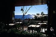 Romantic view over the sea from restaurant, Kalkan, Turkey