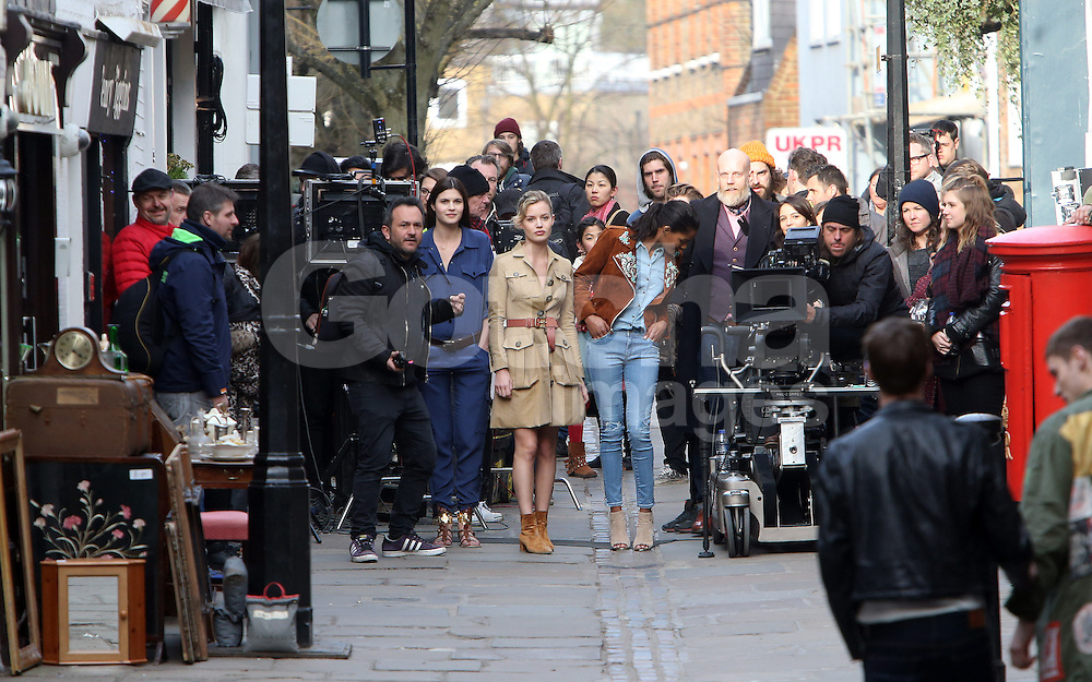 Georgia May Jagger onset of the new Rimmel London commercial. London, UK. 13/03/2015<br /> BYLINE MUST READ : GOTCHAIMAGES.COM<br /> <br /> Copyright by &copy; Gotcha Images Ltd. All rights reserved.<br /> Usage of this image is conditional upon the acceptance <br /> of Gotcha Images Ltd, terms and conditions available at<br /> www.gotchaimages.com