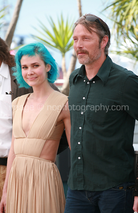 Nanna Oland Fabricius, Mads Mikkelsen at the photo call for the film The Salvation at the 67th Cannes Film Festival, Saturday 17th May 2014, Cannes, France.
