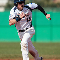 18 April 2010: Romain Martinez Scott rushes toward third base during game 1/week 2 of the French Elite season won 8-1 by Savigny (Lions) over Senart (Templiers), at Parc municipal des sports Jean Moulin in Savigny-sur-Orge, France.