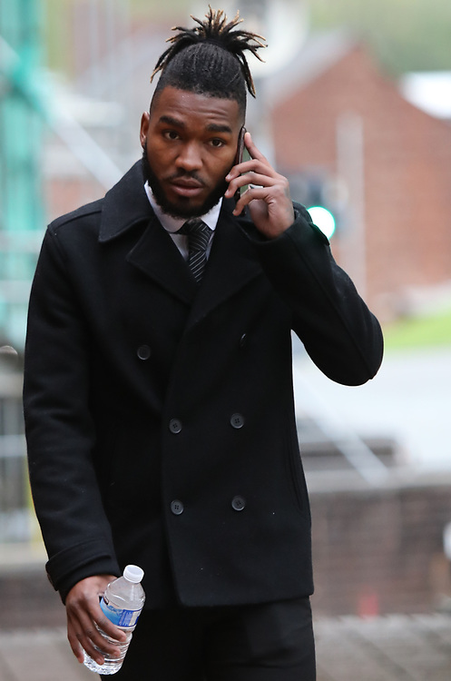 Stockport UK 29.04.2018 Footballer Tyrone Marsh 24 DOB 24.12.93 of 26 Chelford Road Macclesfield SK10 3LG who plays for Macclesfield Town football club.<br /> <br /> Appeared at Stockport Magistrates Court today Monday 30th April  charged with 2 counts of sexual assault on a female who was over 13yrs old.<br /> <br /> The offences were committed in August 2017 Marsh  has continued to play for the club since then and was last seen playing on the 21st April.<br /> <br /> Macclesfield Town Tootball Club have just been promoted to the football league<br /> Credit Should Read  UK News Media