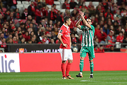 February 3, 2018 - Lisbon, Portugal - Rio Ave's forward Guedes (7) celebrates after scoring a goal during the Portuguese League football match SL Benfica vs Rio Ave FC at the Luz stadium in Lisbon on February 3, 2018. Photo: Pedro Fiuza  (Credit Image: © Pedro Fiuza/NurPhoto via ZUMA Press)