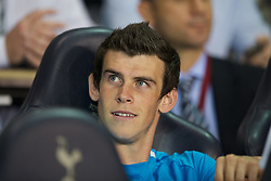 LONDON, ENGLAND - THURSDAY, SEPTEMBER 29, 2011: Tottenham Hotspur's Gareth Bale looks on from the bench during the UEFA Europa League Group A match at White Hart Lane. (Photo by Chris Brunskill/Propaganda)
