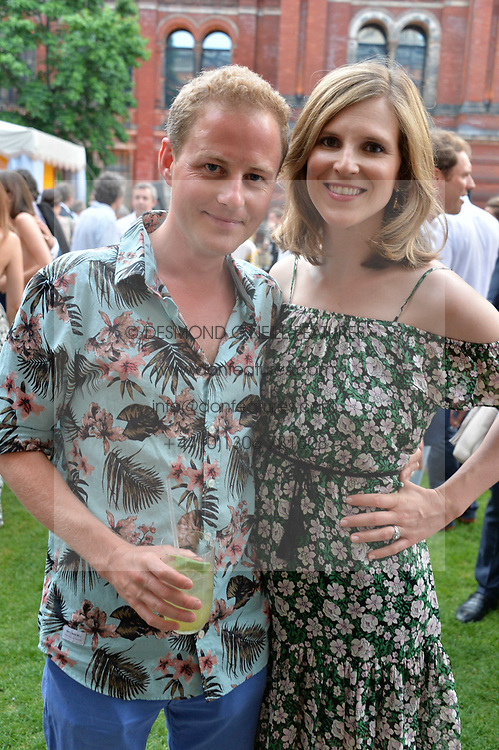 Guy & Lizzie Pelly at the V&A Summer Party 2017 held at the Victoria & Albert Museum, London England. 21 June 2017.<br /> Photo by Dominic O'Neill/SilverHub 0203 174 1069 sales@silverhubmedia.com