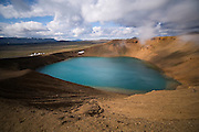 Near the explosion crater Víti that was formed in 1724 in the Mývatnseldar eruption.