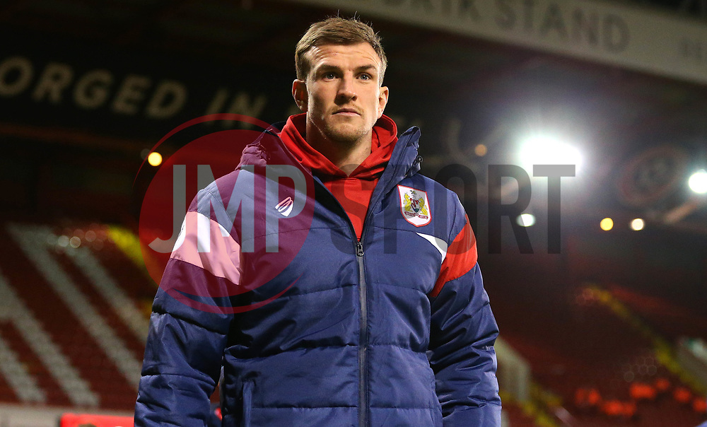 Aden Flint of Bristol City arrives at Bramall Lane for the fixture against Sheffield United - Mandatory by-line: Robbie Stephenson/JMP - 08/12/2017 - FOOTBALL - Bramall Lane - Sheffield, England - Sheffield United v Bristol City - Sky Bet Championship