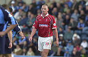 Peter Spurrier Sports  Photo.email pictures@rowingpics.com.Tel 44 (0) 7973 819 551.Nationwide Division 2 .Wycombe Wanders FC v Swindon Town FC..27-10-2001.2nd Half..Matty Heywood