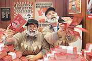 Conservative Party Conference ,<br /> Manchester, Great Britain <br /> 4th October 2015 <br /> <br /> GV shots inside the exhibition area <br /> Bank of Labour <br /> activists dressed as Jeremy Corbyn on &pound;100 'bank notes' . <br /> <br /> <br /> Photograph by Elliott Franks <br /> Image licensed to Elliott Franks Photography Services