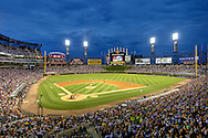 CHICAGO - JUNE 23:  (EDITORS NOTE: This image has been digitally enhanced for aesthetic purposes).  A general view of U.S. Cellular Field as the Chicago White Sox play the Milwaukee Brewers on June 23, 2014 at U.S. Cellular Field in Chicago, Illinois.  (Photo by Ron Vesely)