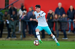 KIRKBY, ENGLAND - Friday, March 31, 2017: West Ham United's Joe Powell in action against Liverpool during an Under-18 FA Premier League Merit Group A match at the Kirkby Academy. (Pic by David Rawcliffe/Propaganda)